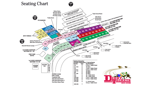 Derby Tickets Inc - Churchill Downs Seating Chart